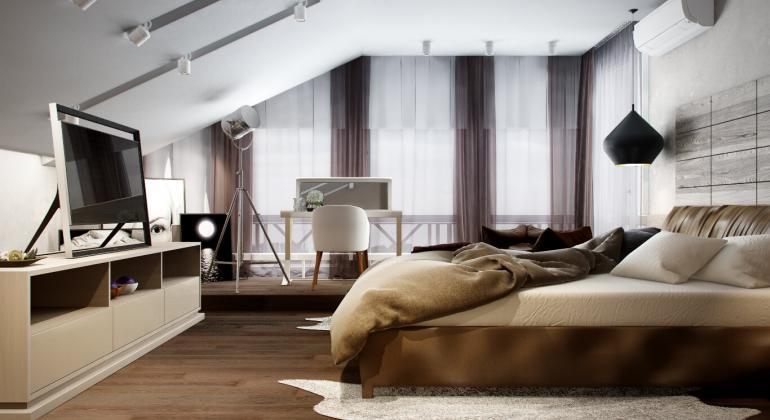 Спальня в стиле шале от TWO APPLE