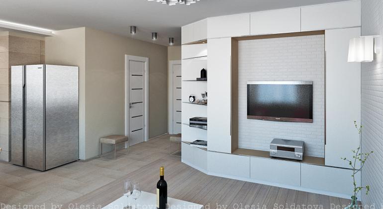 Дизайн интерьера квартиры по улице Местряковская
