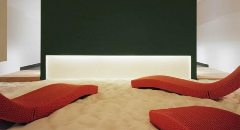 песок в интерьере