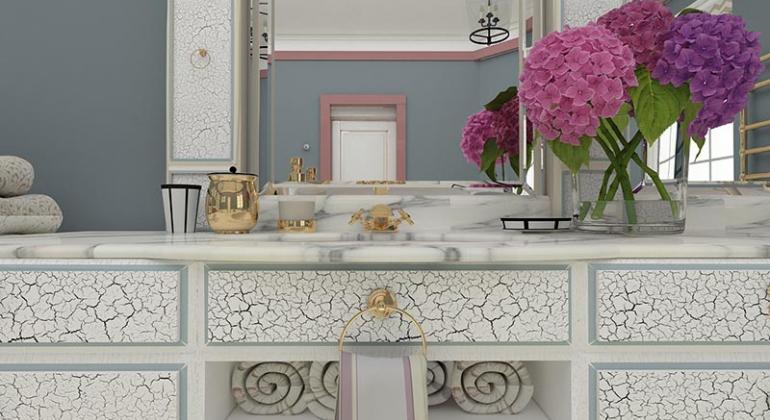 Ванная комната в классическом стиле 1