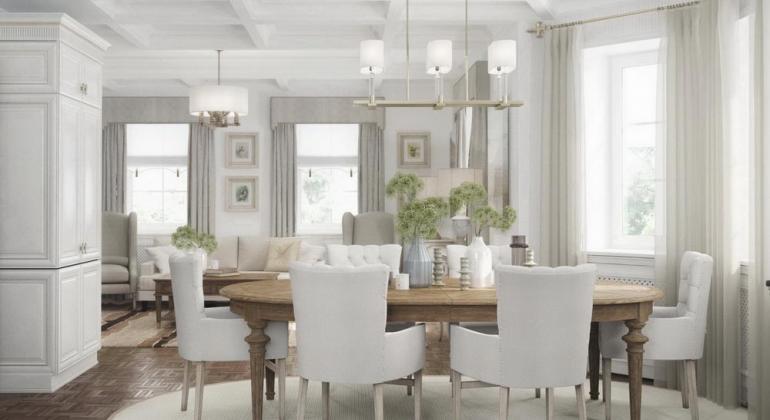 Дизайн интерьеров дома в Подмосковье. Умиротворение