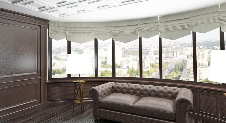 Дизайн интерьера кабинета в двухуровневой квартире