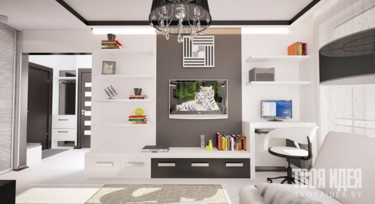 Дизайн интерьера квартиры 48м2 в Сеннице