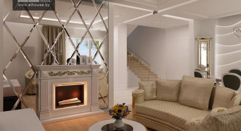 Дизайн интерьера двухуровневой квартиры в Тарасово