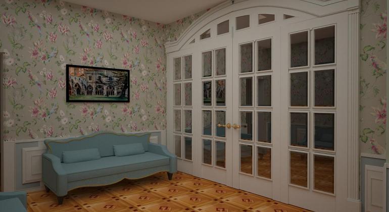 Гостиная комната в классическом стиле
