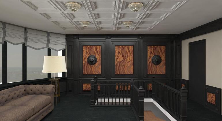 Дизайн интерьера кабинета в классическом стиле