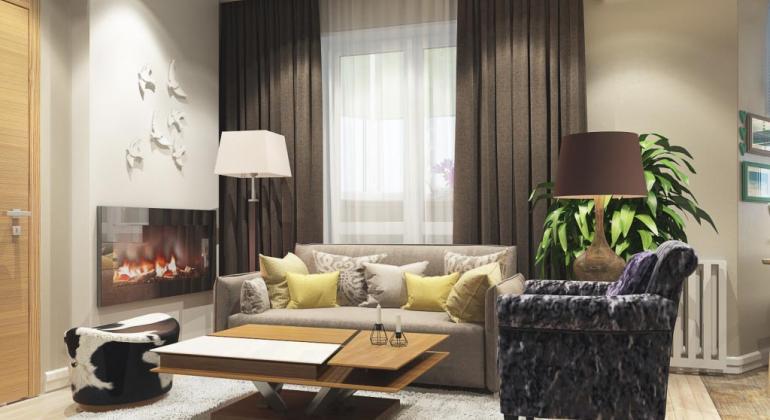 Дизайн квартиры с элементами скандинавского стиля