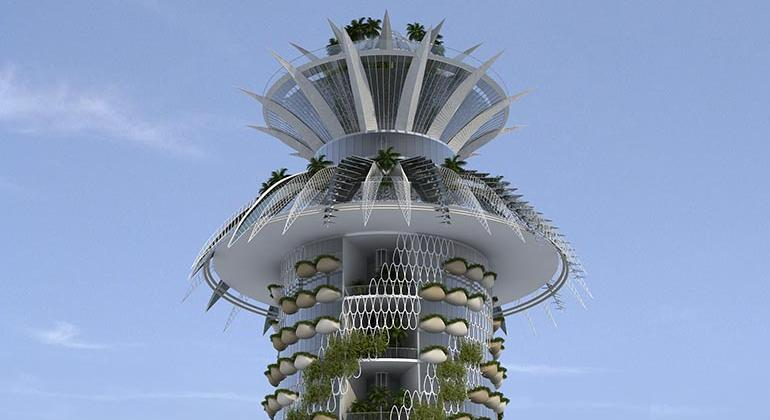 """Проект """"Отель-пальма"""" в Media City в Нигерии. Совместно с JD Design Studio"""