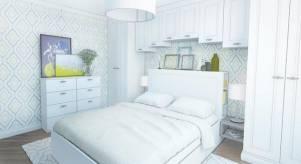 Спальня для молодой пары - дизайн проект