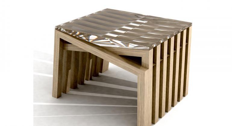 Проектирование коллекции мебели из 6 предметов. Стол журнальный Regatta