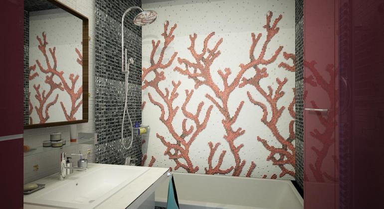 Типовая ванная комната  в современном стиле