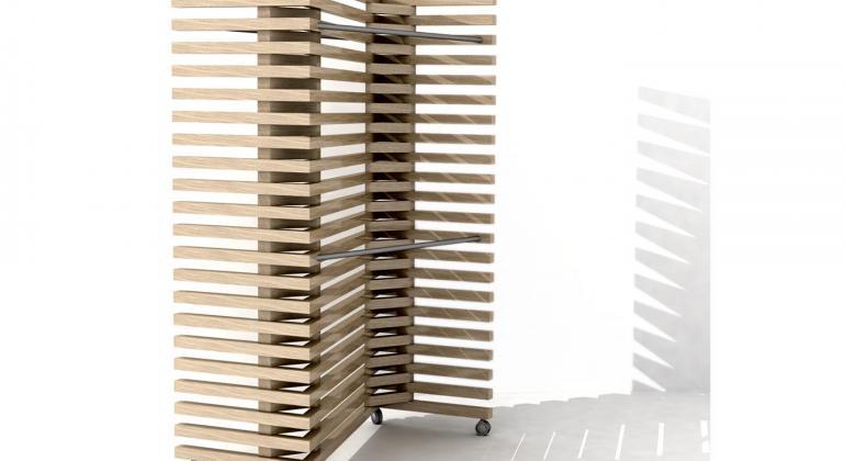 Проектирование коллекции мебели из 6 предметов. Вешалка -ширма Regatta